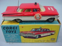 1. Brinquedos antigos - Corgi Toys - Chevrolet Impala 1959 Fire Chief
