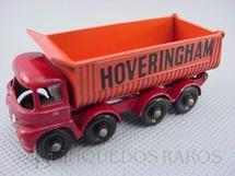 1. Brinquedos antigos - Matchbox - Hoveringham Tipper black plastic Regular Wheels