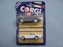 1. Brinquedos antigos - Corgi Toys-Corgi Jr. - Porsche Carrera e Jaguar XJS Blister duplo lacrado Corgi Jr
