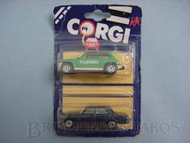 1. Brinquedos antigos - Corgi Toys-Corgi Jr. - Renault 5 Turbo e Mercedes Benz 240D Blister duplo lacrado Corgi Jr
