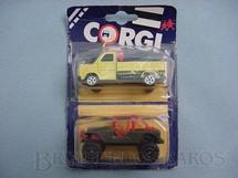 1. Brinquedos antigos - Corgi Toys-Corgi Jr. - Ford Transit e Jeep Blister duplo lacrado Corgi Jr
