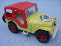 1. Brinquedos antigos - Corgi Toys-Kiko - Jeep Chrysler CJ5 Amarelo com capota vermelha Brazilian Corgi Toys Kiko