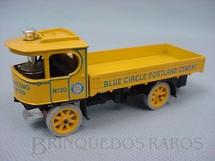 1. Brinquedos antigos - Matchbox - Caminhão a Vapor Atkinson Steam Wagon Blue Circle Portland Cement Yesteryear