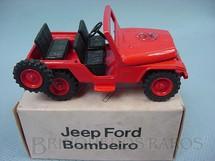 1. Brinquedos antigos - Minimac - Jeep Ford Willys Bombeiro Década de 1970