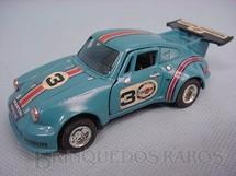 1. Brinquedos antigos - Shinsei - Porsche Turbo azul Alfema década de 1980