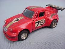 1. Brinquedos antigos - Shinsei - Porsche Turbo vermelho Alfema década de 1980