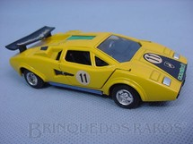 1. Brinquedos antigos - Shinsei - Lamborguini Countach amarela Alfema década de 1980