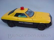 1. Brinquedos antigos - Alfema Norte e Rei - Toyota Celica com 37,00 cm de comprimento Policia Rodoviaria
