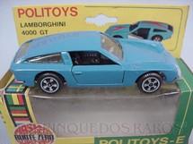 1. Brinquedos antigos - Politoys e Polistil - Lamborghini 4000 GT Politoys Década de 1970