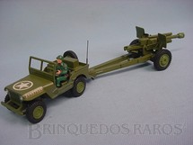 1. Brinquedos antigos - Dinky Toys - US Jeep Willys with 105 mm Gun Década de 1960