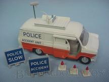 1. Brinquedos antigos - Dinky Toys - Ford Transit Police Accident Unit completo com acessórios Década de 1960