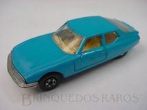 1. Brinquedos antigos - Matchbox - Inbrima - Citroen SM Superfast azul Brazilian Matchbox Inbrima 1970