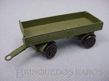 1. Brinquedos antigos - Matchbox - Mercedes Trailer Superfast verde oliva