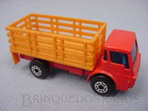 1. Brinquedos antigos - Matchbox - Inbrima - Dodge Stake Truck Superfast amarelo e laranja Brazilian Matchbox Inbrima 1970
