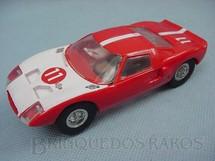 1. Brinquedos antigos - Estrela - Ford GT vermelho com frente branca Chassi de latão Década de 1967