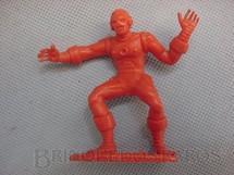 1. Brinquedos antigos - Casablanca e Gulliver - Homem de Ferro de plastico vermelho