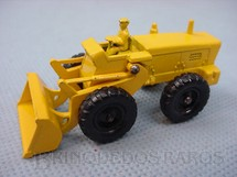 1. Brinquedos antigos - Matchbox - Aveling Barford Tractor Shovel Black Plastic Regular Wheels motorista amarelo