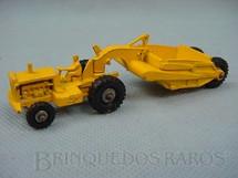 1. Brinquedos antigos - Matchbox - Caterpillar Earth Scraper Major Packs Década de 1960
