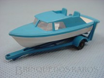 1. Brinquedos antigos - Matchbox - Boat and Trailer Black Plastic Regular Wheels