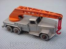 1. Brinquedos antigos - Matchbox - Guindaste Magirus Deutz Six Wheel Crane Truck silver plastic Regular Wheels