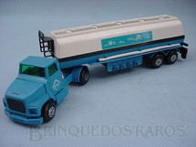 1. Brinquedos antigos - Matchbox - Petrol Tanker Aral adesivo com nuvens Super Kings