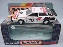 1. Brinquedos antigos - Matchbox - Audi Quattro Super Kings
