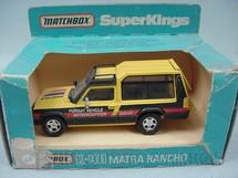 1. Brinquedos antigos - Matchbox - Caminhonete Matra Rancho Super Kings