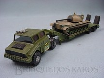 1. Brinquedos antigos - Matchbox - Tank Transporter with M48 Tank Battle Kings