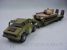 1. Brinquedos antigos - Matchbox - Tank Transporter with M48 Tank Battle Kings