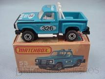 1. Brinquedos antigos - Matchbox - Caminhonete Flareside Pick Up Superfast azul
