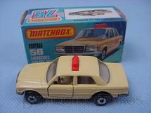 1. Brinquedos antigos - Matchbox - Mercedes Benz 450 SEL Taxi Superfast