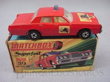 1. Brinquedos antigos - Matchbox - Mercury Fire Chief Car Superfast