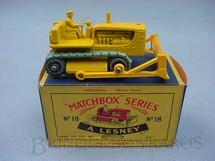 1. Brinquedos antigos - Matchbox - Caterpillar Bulldozer esteira verde com tratorista