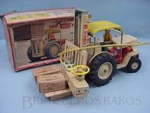 1. Brinquedos antigos - Alps - Empilhadeira Ford 4000H com 35 cm de comprimento Década de 1960