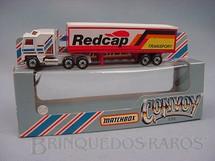 1. Brinquedos antigos - Matchbox - Kenworth Box Truck Convoy Série Red Cap