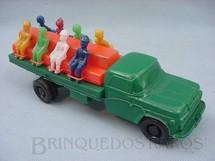1. Brinquedos antigos - Mimo - Caminhão Ford com oito soldados 20,00 cm de comprimento Ano 1975