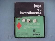 1. Brinquedos antigos - Sem identificação - Jogo de dados Jogo ou Investimento brinde da Bosch Década de 1970