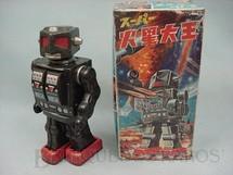 1. Brinquedos antigos - S.H. - Robot com metralhadora no peito Rotate-O-Matic rosto mecânico Com 29,00 cm de altura Década de 1960
