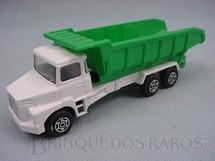 1. Brinquedos antigos - Corgi Toys-Kiko - Scania Vabis Dump Truck branco e verde Brazilian Corgi Jr Kiko Década de 1980