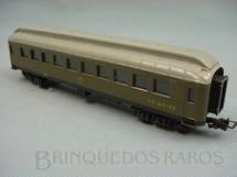 1. Brinquedos antigos - Atma - Carro de Passageiros verde Companhia Paulista primeira classe Década de 1960