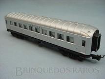 1. Brinquedos antigos - Atma - Carro de Passageiros prata Central do Brasil primeira classe Década de 1970