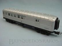 1. Brinquedos antigos - Atma - Carro de Passageiros prata Central do Brasil segunda classe e Correio Década de 1970