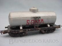 1. Brinquedos antigos - Atma - Vagão Tanque Soma de dois trucks Corrente Alternada Atma Mirim Década de 1950