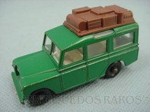 1. Brinquedos antigos - Matchbox - Land Rover Safari verde Black plastic Regular Wheels