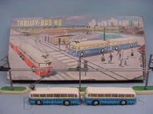 1. Brinquedos antigos - Eheim - Trolley Bus HO Completo Década de 1960