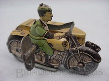 1. Brinquedos antigos - Sem identificação - Motocicleta do Correio Inglês com side car com 8,00 cm de comprimento Década de 1920
