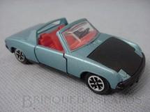 1. Brinquedos antigos - Dinky Toys - Volkswagen Porsche 914 azul metálico