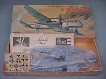 1. Brinquedos antigos - Revell - Avião Heinkel He219 OWL caixa dura