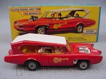 1. Brinquedos antigos - Corgi Toys - Pontiac GTO dos Monkees Monkeemobile completo com as figuras Década de 1970