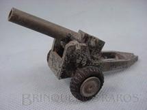 1. Brinquedos antigos - Sem identificação - Canhão de campanha com 11,00 cm de comprimento Década de 1960